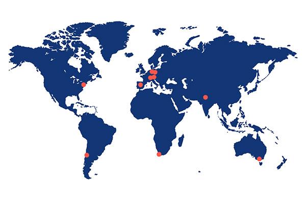 ABX-CRO lcoations worldwide